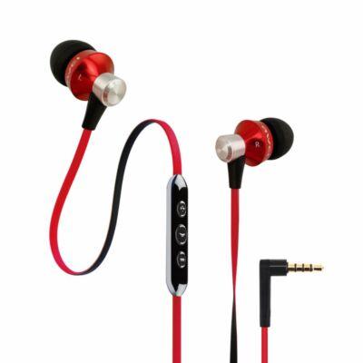 AWEI ES950vi In-Ear fülhallgató headset hangerőszabályzóval Piros