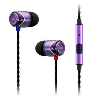 SoundMAGIC E10S In-Ear fülhallgató headset Lila-Fekete