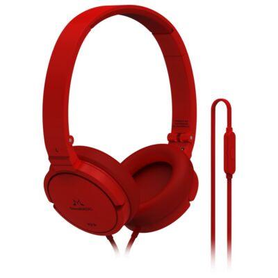SoundMAGIC P21S On-Ear fejhallgató headset Piros