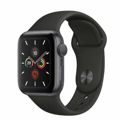 Apple Watch Series 5 44 mm + fekete sportszíj LTE szürke