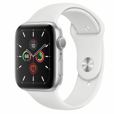 Apple Watch Series 5 40 mm + fehér sportszíj ezüst