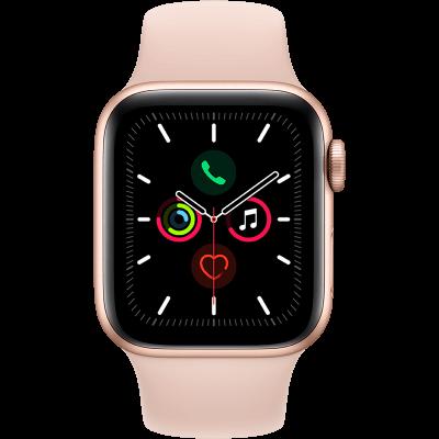 Apple Watch Series 5 40 mm + rózsaszín sportszíj arany