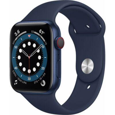 Apple Watch Series 6 44 mm + sötétkék sportszíj kék