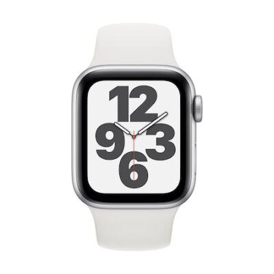 Apple Watch SE GPS 40mm + fehér sportszíj ezüst