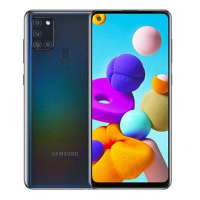 Samsung Galaxy A21s 64 GB Dual Sim fekete