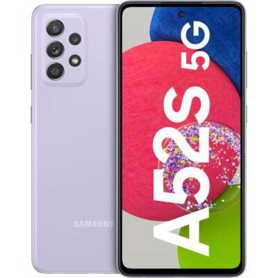 Samsung Galaxy A52s A528B 5G 128 GB Dual Sim világoslila